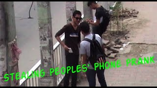 Stealing Peoples' Phone- Nepali Public Prank