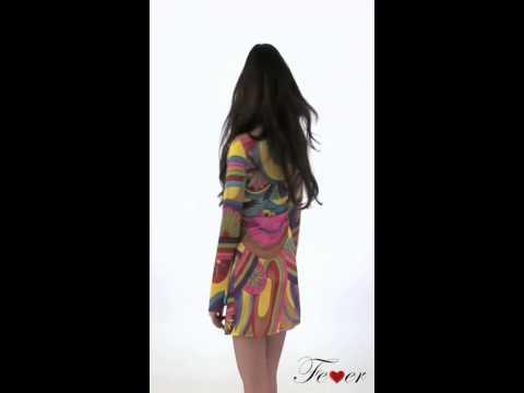 30462 Fever 60's Flower Power Costume Multicoloured Video