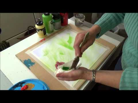 Acrylmalerei   Techniken   Trockenpinseltechnik