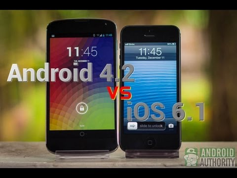 AndroidAuthority - Android 4.2 Jelly Bean and Apple's iOS 6.1 are two of the world's most used and well-loved mobile operating systems today. How far apart are the two in satis...