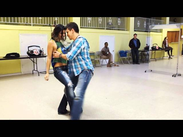 Zouk class demo dance with pros Diego & Jessica