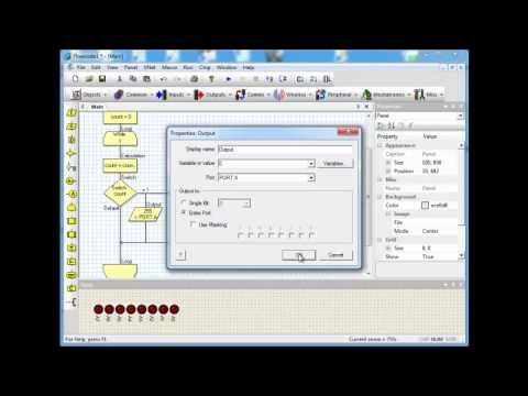 Flowcode v4 - http://www.matrixmultimedia.com Training video on using the switch icon in Flowcode. Flowcode is a graphical programming language for PIC, AVR and ARM microc...