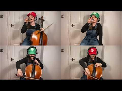 Super Mario Bros for 3 Cellos... and egg shaker...