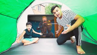 Fortnite Tent Fort Challenge With My 6 Year Old Little Brother! (TENT FORT CHALLENGE!)