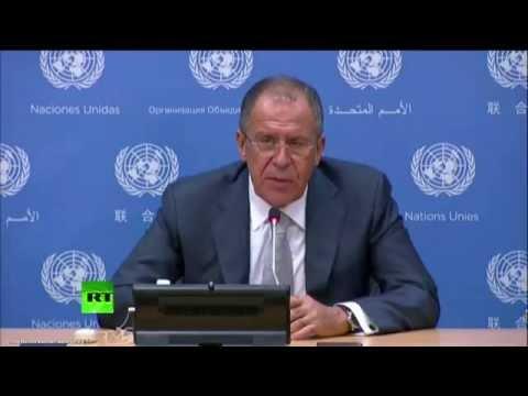 Пресс-конференция Сергея Лаврова в рамках Генеральной Ассамблеи ООН (видео)