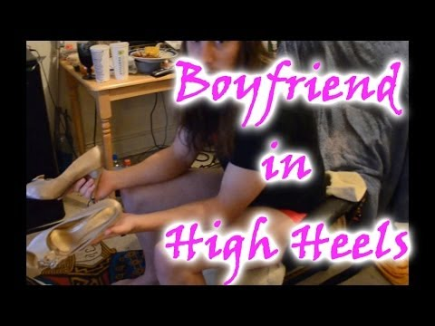 How to Force Your Boyfriend to Crossdress Step 10 : High Heels