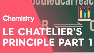 Le Chatelier's Principle Part 1