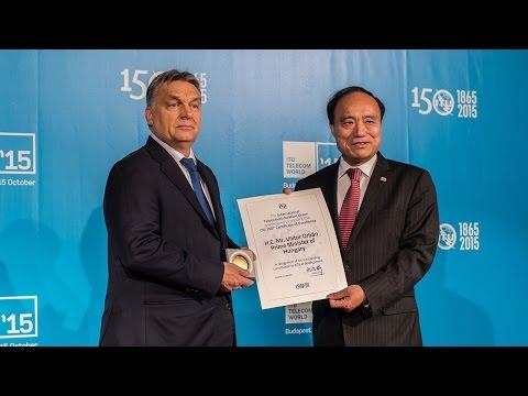 Orbán Viktor a Nemzetközi Távközlési Egyesület (ITU) Telecom World 2015 világkonferenciáján