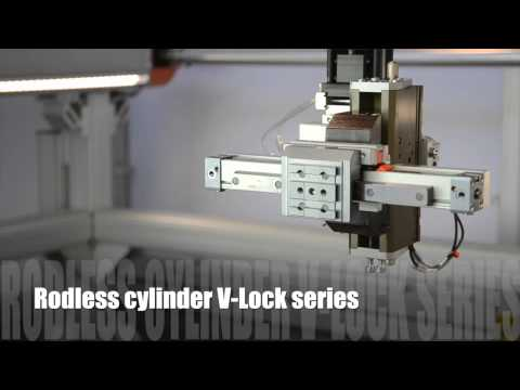 Metal Work Pneumatic #10 highlight 2015 Rodless cylinder V-Lock series