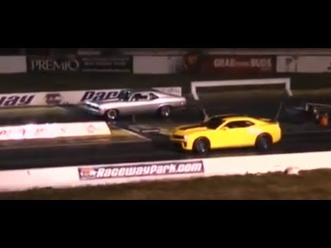 A Camaro ZL1 loses to a Honda Civic at the drag strip