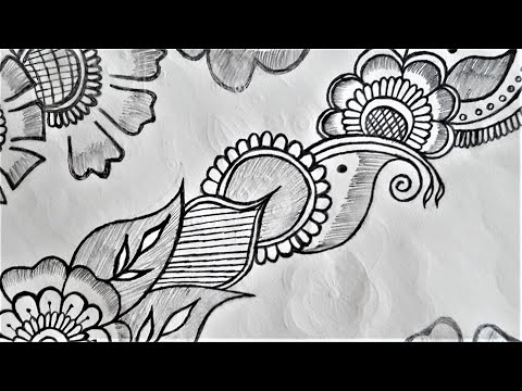 Latest & Trending Beautiful Holi Special Pencil Shading Mehndi Design || ❤️ Durgesh Mehnd… видео