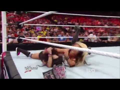 WWE Diva Kaitlyn Nip Slip Wardrobe Malfunction With Slow Motion