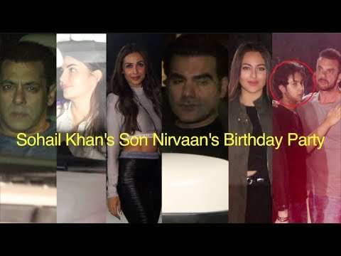 Salman, Jacqueline, Malaika, Arbaaz & Sonakshi Sohail Khan's Son Nirvaan's Birthday Party