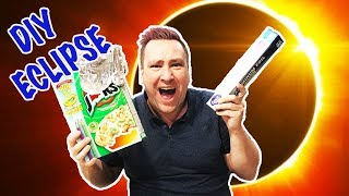 DIY Cereal Box Solar Eclipse Home Made Viewer JellyBeanTV a British family of 4 have given up their lives in the UK to travel the...