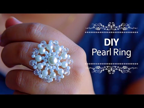 Beautiful Pearl ring | How to make pearl ring at home | DIY |