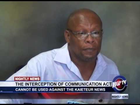 THE INTERCEPTION OF COMMUNICATION ACT 1