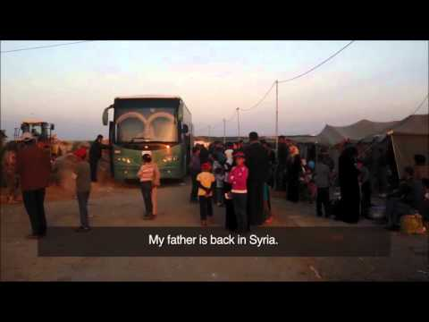 Syrian - Jordanian border crossing point -