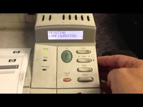 HP LaserJet 4000/4050/4100/5000/5100 Printer Series - Printing a Configuration Page (Self-Test)