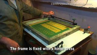 Home made PCB by the method of screen printing