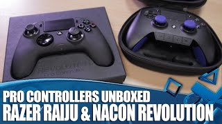 Pro Controllers for PS4 and PS4 Pro - Razer Raiju and Nacon Revolution Unboxed