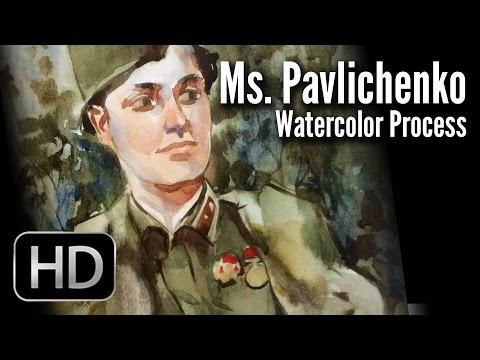 Женщины - герои Великой Отечественной войны глазами художника-иллюстратора Андрея Тарусова