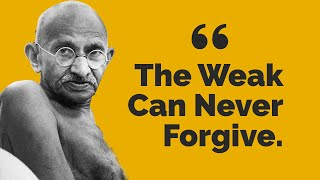 "Presenting Top 10 Most Inspiring Quotes from Gandhi..............................................................Click to Subscribe - http://goo.gl/47SV9mShare on Facebook - http://goo.gl/EGqloYShare on Twitter - http://goo.gl/KHzSx2Google Plus - http://goo.gl/M6XN6p..............................................................Follow us on Twitter - https://twitter.com/toptenamazing..............................................................Top Ten Most Inspiring Gandhi Quotes#10""Nobody can hurt me without  my permission""#9""You can chain me, you can torture me,  you can even destroy this body,  but you will never imprison my mind""#8""The best way to find yourself  is to lose yourself in the service of others""#7""An ounce of patience is worth more  than a ton of preaching""#6""A man is but a product of his thoughts.  What he thinks, he becomes""#5""Live as if you were to die tomorrow.  Learn as if you were to live forever""#4""The weak can never forgive.  Forgiveness is the attribute of the strong""#3""First they ignore you, then they laugh at you, then they fight you, then you win""#2""Be the change you want  to see in the world""#1""Where there is love there is life""..............................................................Music : 01Title: Into the WormholeContributing Artist: Jingle PunksAlbum: YouTube Audio Library02Title: Sicilian BreezeContributing Artist: Topher Mohr and Alex ElenaAlbum: YouTube Audio LibraryGraphic Images : http://commons.wikimedia.org/wiki/Mohandas_K._Gandhi.............................................................."