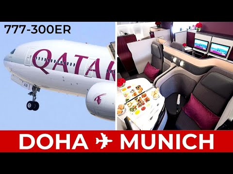 Qatar Airways Qsuites Doha to Munich 777-300ER | 2020 REVIEW Business Class