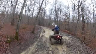 6. ATV Quad Polaris Scrambler 500 HO 4x4 2012 - Auvergne - GoPro HD 2 - winter hiver 2012 02
