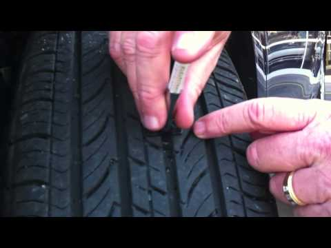 how to gauge tire tread
