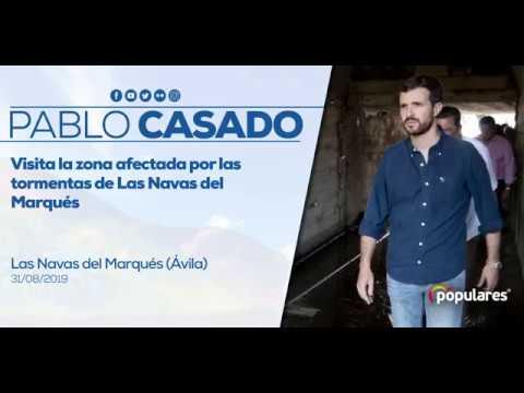Pablo Casado visita Las Navas del Marqués