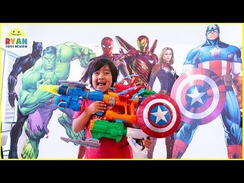 Marvel Avengers Endgame Superhero Nerf Toys Hide and Seek