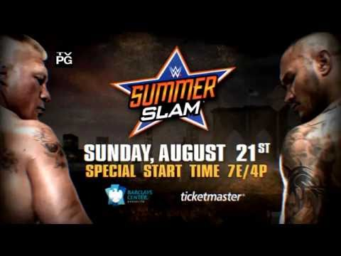 WWE  Summerslam 2016 Brock Lesnar vs Randy Orton Promo//Highlights HD