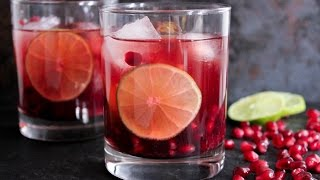 Pomegranate Vodka Gimlet