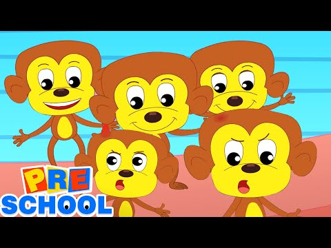 Five Little Monkeys   Nursery Rhymes and Kids Songs   Baby Rhyme with Children