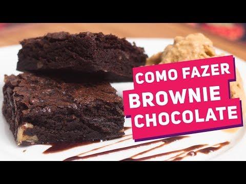 BROWNIE DE CHOCOLATE MAIS FÁCIL DO MUNDO (Como Fazer) - Receitas de Minuto #117