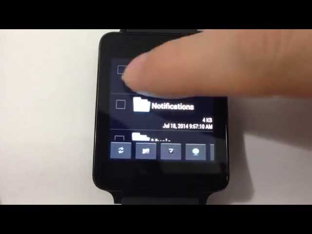 File Manager for Android Wear Watch  ( Demo Run on LG G Watch )