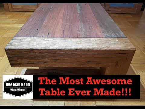 Woodworking table - Building the  Most Awesome Coffee Table Ever