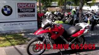 10. 2010 BMW G650GS in Red at Euro Cycles of Tampa Bay