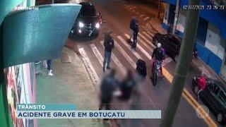 Motociclista fica gravemente ferido em acidente em Botucatu