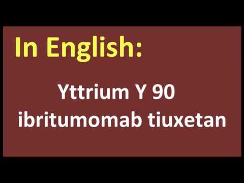 Yttrium Y 90 ibritumomab tiuxetan arabic MEANING