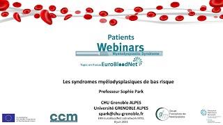 Revoir le Webinaire du 8 juin 2021 : Syndromes Myélodysplasiques de bas risque