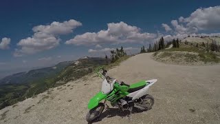 7. Kawasaki KLX 110L Review by an adult for an adult at 11k ft.
