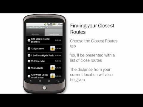 Video of Chicago Transit Tracker Lite