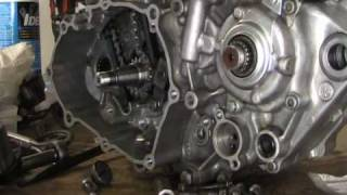 10. Part 19: 4 stroke installing cam (timing) chain tensioner. YZ250F example