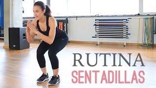 Rutina de ejercicios para tonificar glúteos y piernas  Sentadillas