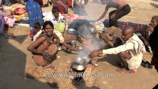 Allahabad India  city images : Cooking in the sand at the Allahabad Kumbh Mela: India