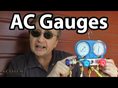 gauges - Scotty Kilmer, mechanic for the last 46 years, shows how to use a set of AC gauges to fix non working car air conditioning systems. And, If you like my car h...