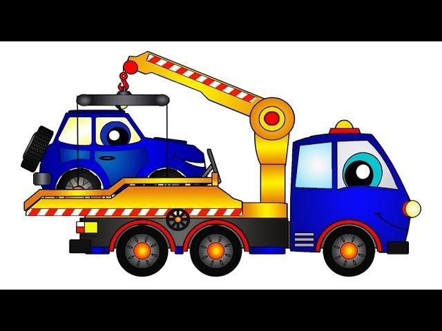 Мультфильмы про Машины: Эвакуатор спасает Джип