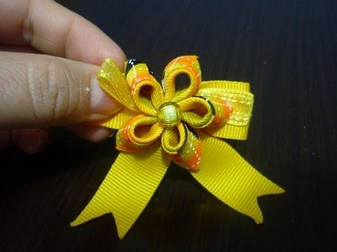 tutorial flores pequeñas para ganchos oc clip del cabello No.106 Manualidades la hormiga