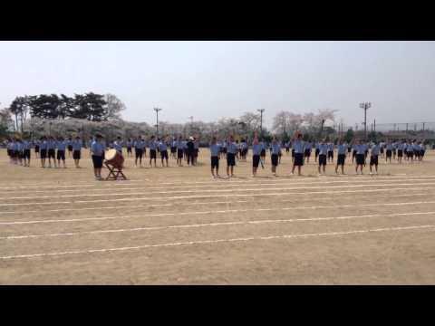 石鳥谷中学校 H26体育祭アピール応援(青組)
